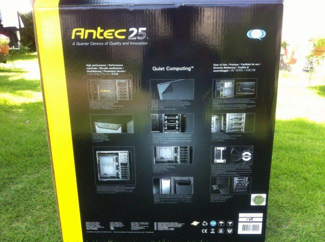 AntecのPCケース・P280の箱の裏面