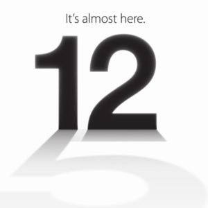 iPhone5とiOS6が発表されるアップルのイベント