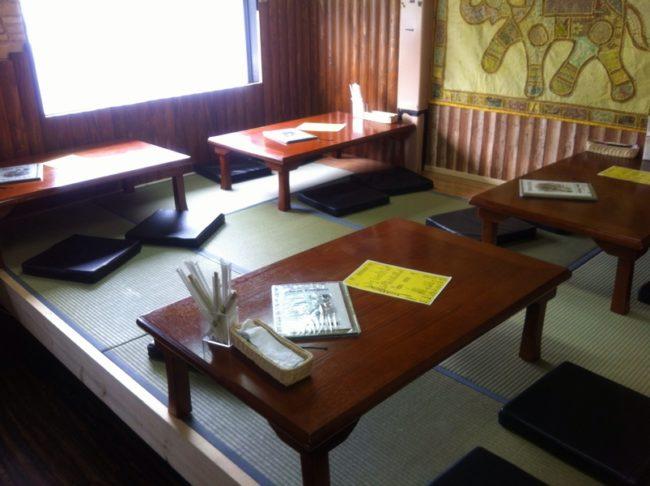 カナカザナの新たに出来た座敷席