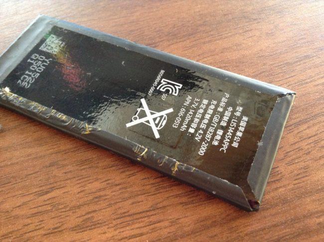 iPhone4のバッテリーの裏面