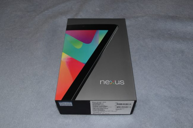 Nexus 7の梱包状態