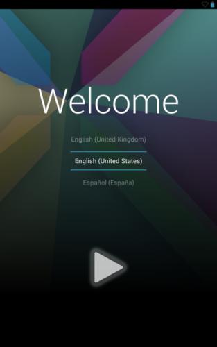 Nexus 7の電源を入れた直後の画面