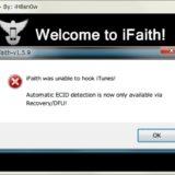 iFaithのエラー表示