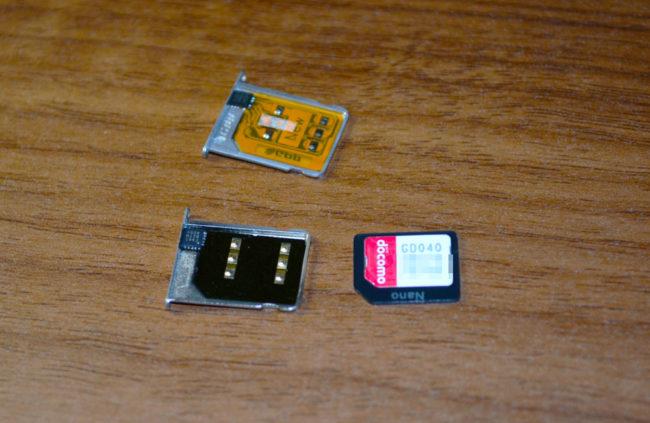 型番GD040のSIMカード